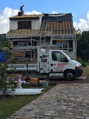 Changement de la couverture en terre cuite, Saint-Germain-lès-Arpajon